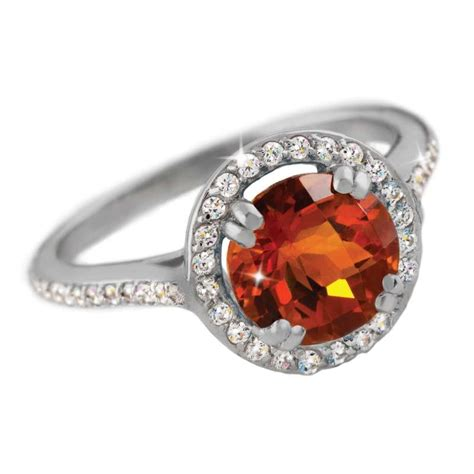 citrine diamondaura ring w6333 stauer