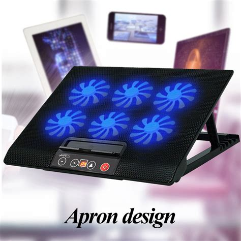 laptop stand with fan 6 fans laptop cooler mat stand tilt for 12 quot 15 4 quot 15 6 quot 17
