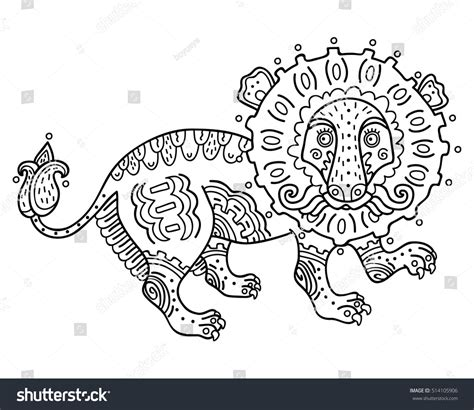 abstract lion coloring pages abstract lion coloring page vector illustration of cute