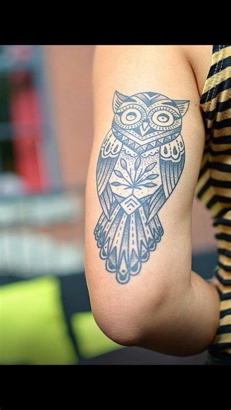 Owl Tattoo Location | owl tattoo on tricep tattoos pinterest style design