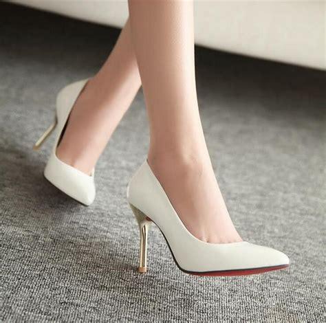 Best Quality Sepatu Wedges Flatform Sdw247 bottom high heels pointed toe pumps wedding black patent leather shoes wedding white
