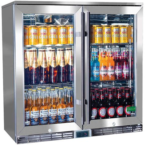 bar with and fridge alfresco glass twin door bar refrigerator alfresco australia