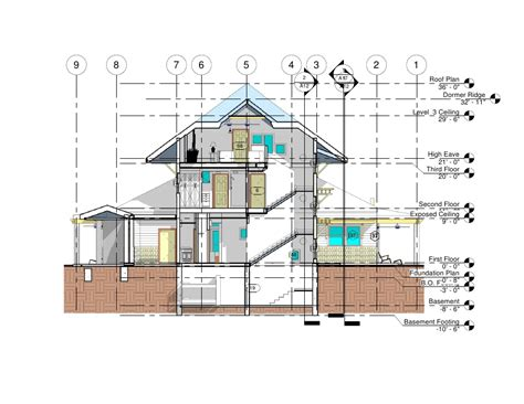 section one small house section section 1 long axis n s