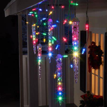 multi color icicle lights gemmy lightshow lights 87 count led shooting