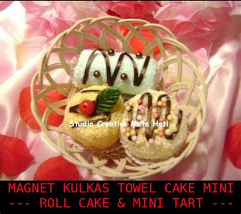 Kulkas Cake mata hati magnet kulkas towel cake