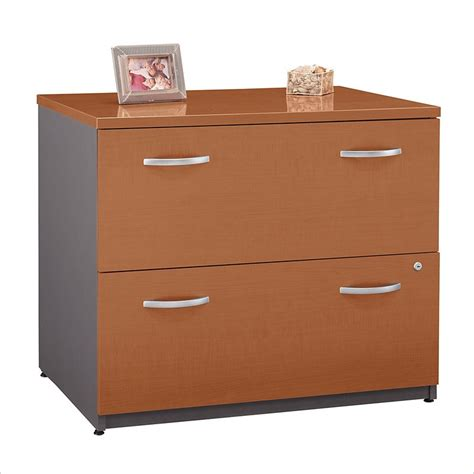 Maple Lateral File Cabinet Bush Bbf Series C 36w 2dwr Lateral File In Auburn Maple Wc48554c