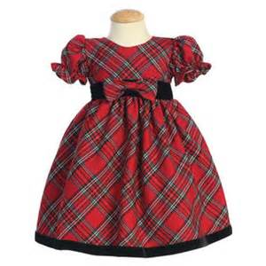 Or toddler girls christmas holiday dress red plaid with velvet 4t