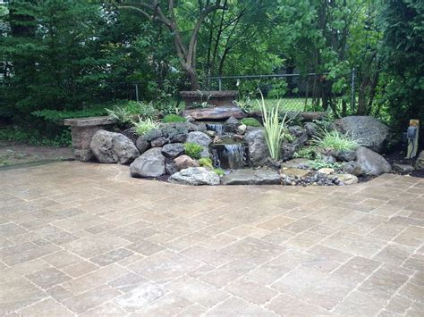 Rock Garden Features Hometalk Landscape Garden Design Waterfalls Water Feature Patio Sitting Wall With Pillars