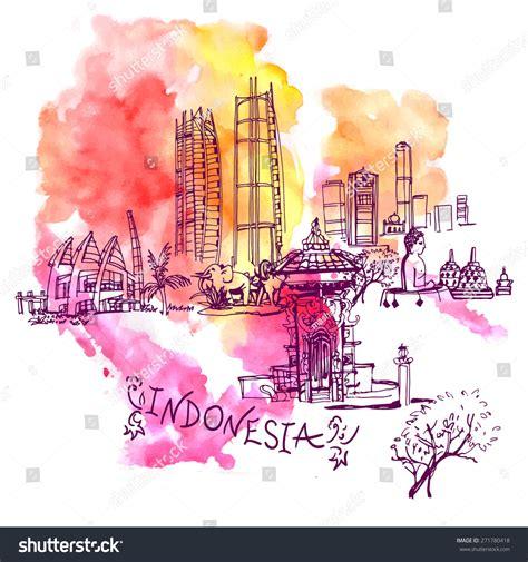 indonesia detailed skyline vector illustration stock jakarta detailed skyline vector illustration in