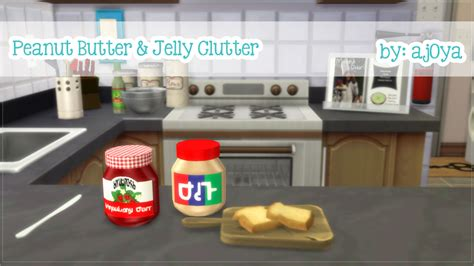 pharmacy clutter sims 4 peanut butter jelly clutterdetails decorations