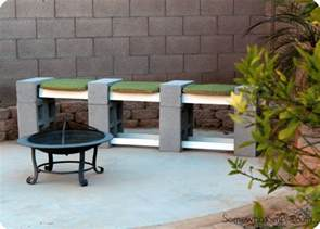 how to make a cinder block bench somewhat simple