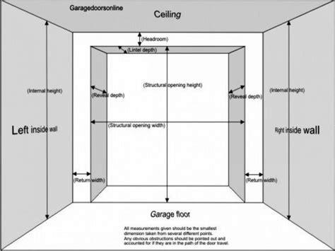 garage door framing diagram charming garage door opening height gallery best
