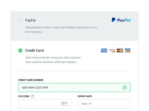 Credit Card Checkout Form Template by 50 Beautiful Web Mobile Form Designs Web Graphic