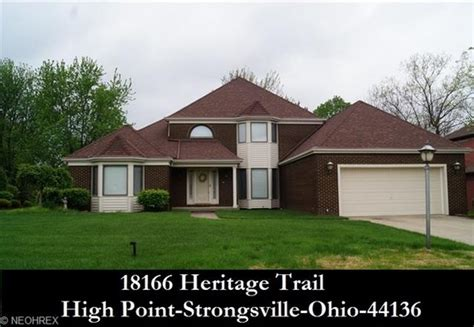 houses for sale in cleveland ohio cleveland ohio homes for sale 18166 heritage trl strongsville oh
