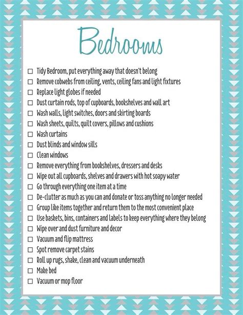 cleaning bedroom checklist 25 best ideas about bedroom cleaning on pinterest