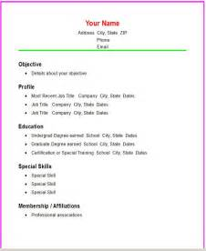 12 simple resume format recentresumes