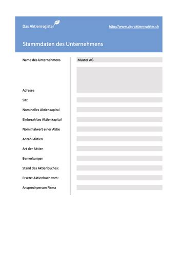 gratis muster aktienbuch aktienregister www das