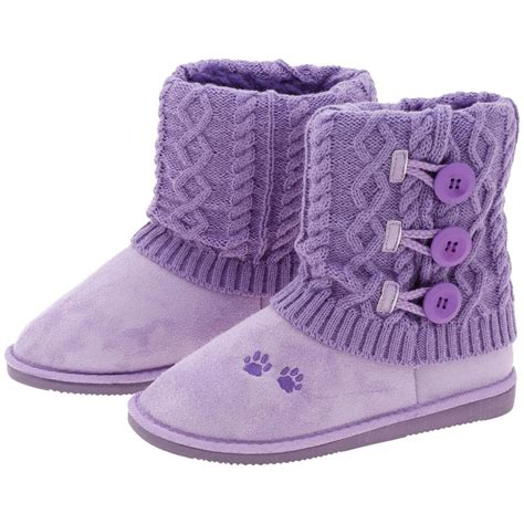 purple paw mid rise knit boots the animal rescue site