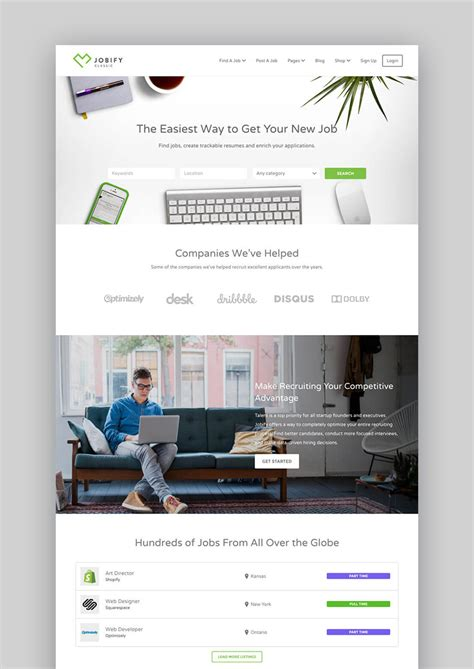 20 Best Wordpress Directory Themes To Make Business Websites 2017 Board Website Template