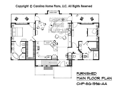 home floor plans carolina 3d images for chp sg 1596 aa small craftsman bungalow 3d