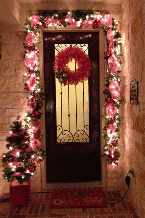 House Entrance Ideas outdoor christmas decoration ideas 30 simple displays