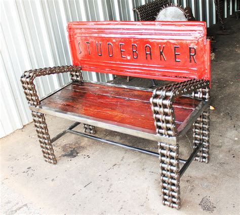 bench made from tailgate studebaker tailgate bench made with chain custom welded