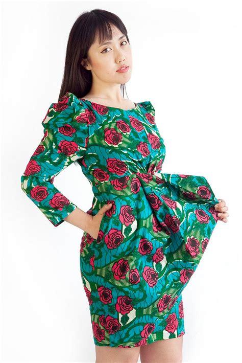 ankara dresses rose print dress african print dress ankara dresses blue