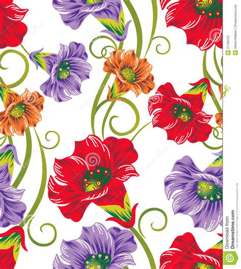 flower design textile seamless vector flowers for textile designs stock vector