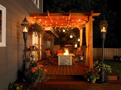 Patio With Lights Patio Accessories Ideas And Options Hgtv