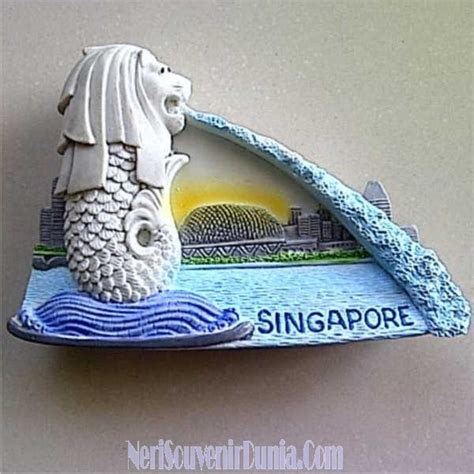 Hiasan Magnet Kulkas Singapore Souvenir Mancanegara jual souvenir magnet kulkas merlion singapore