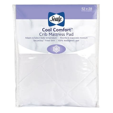 cool comfort sealy 174 cool comfort crib mattress pad target