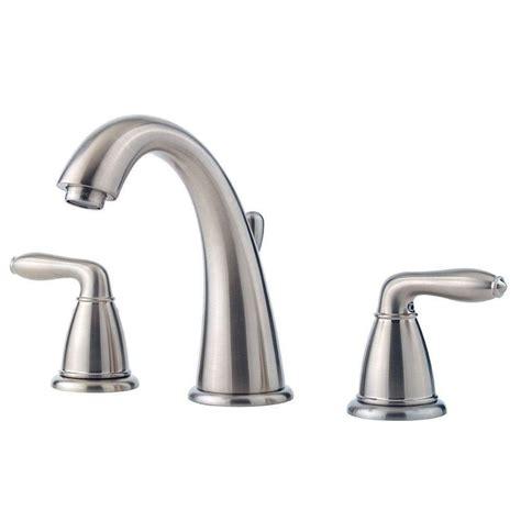 widespread bathroom faucet brushed nickel