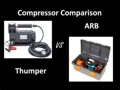 4wd compressor comparison thumper mk2 vs arb high output