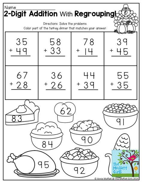 printable elementary multiplication worksheets 19 best 2 digit addition images on pinterest