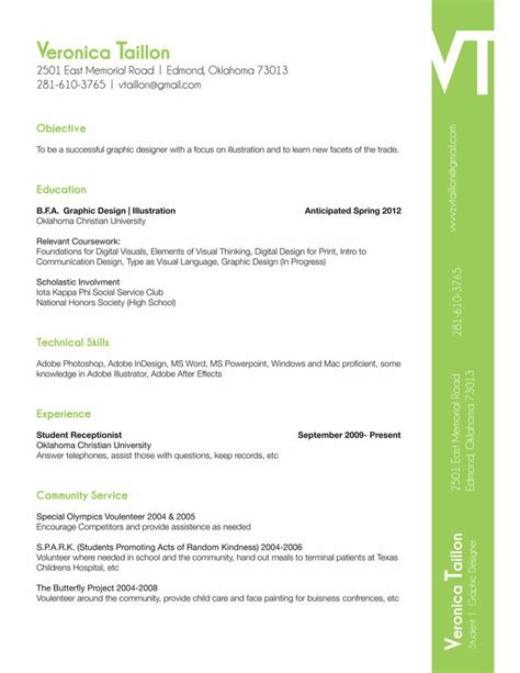 Resume Sles For Creative Design Professionals 1000 images about resume on junior fashion