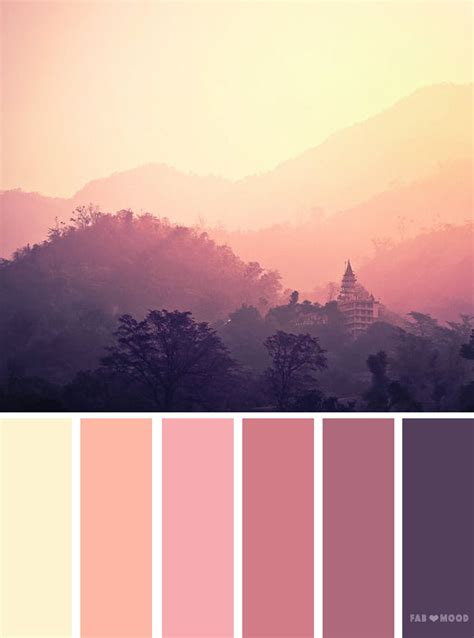 mauve color scheme mauve sky inspired color palette color inspiration