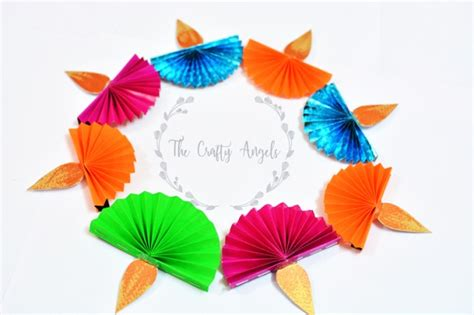 How To Make A Diwali L With Paper - diwali craft for paper diya the crafty