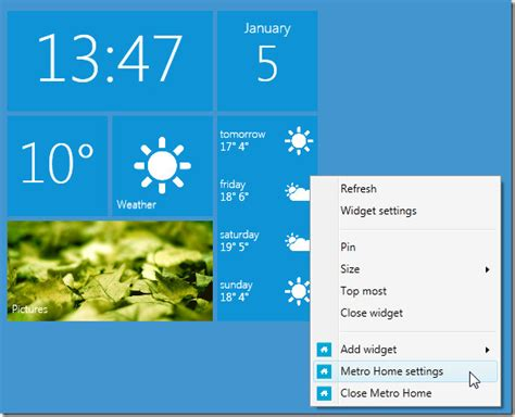 metro home is windows phone 7 metro ui gadget for desktop