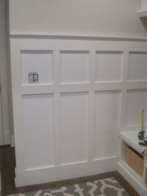 Wainscoting Raised Panel - board and batten wall diy