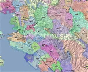 Oakland Ca Zip Code Map by Oakland Ca Zip Codes Alameda County Zip Code Boundary Map