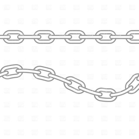 Bike Chain Outline by Chain Link Border Clipart Clipart Suggest