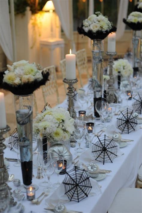 elegant table settings 41 spooky but elegant halloween wedding table settings