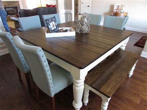 square dining table with bench best 25 modern farmhouse table ideas on