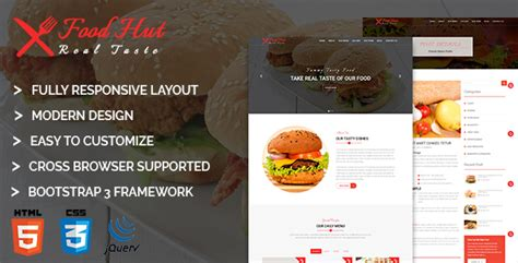 html themes nulled nulled template food hut nulled templates download