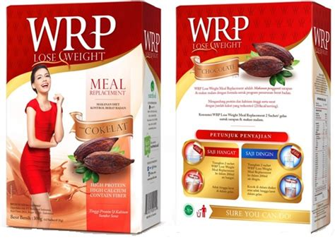 jual wrp meal replacement chocolate 12 sachet suplement