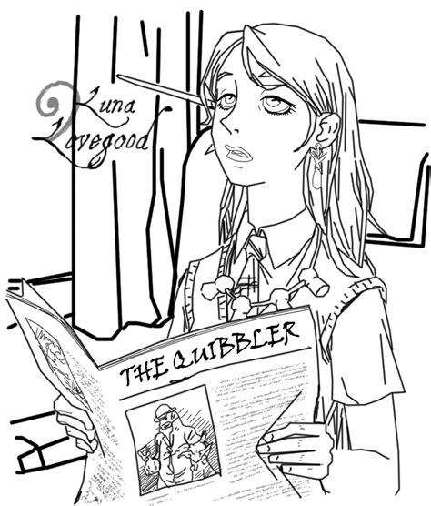 reddit harry potter coloring book lovegood lineart by the ghost writer on deviantart