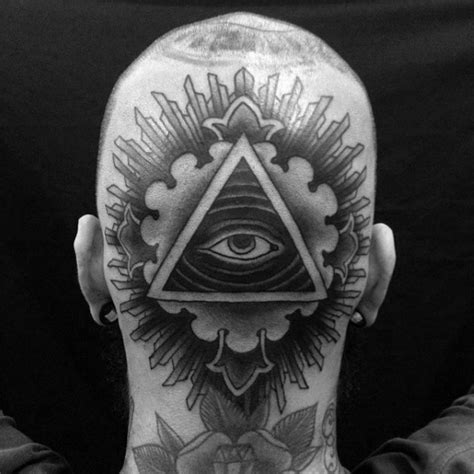 back of head tattoo 60 eye of providence designs for manly ink ideas