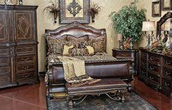 valencia sleigh bedroom hemispheres furniture store