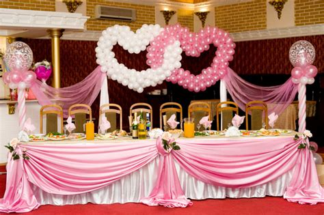 Buffet Table Decorations For Weddings Wedding Buffet Ideas Using Balloons For Buffet Table