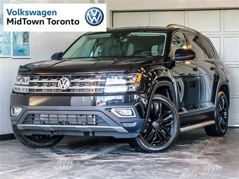atlas volkswagen black used 2018 volkswagen atlas execline 3 6l 4motion black